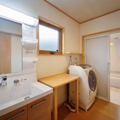 広さにこだわった洗面脱衣室